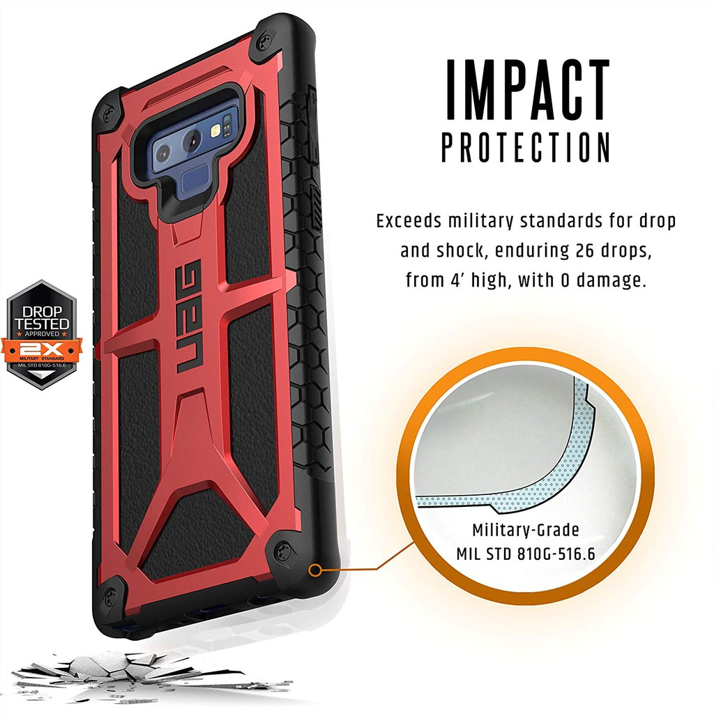 Image # 2 of Review UAG เคส Samsung Galaxy Note 9/Note 8/S9+/S8+/S8 เคสกันกระแทก UAG Monarch