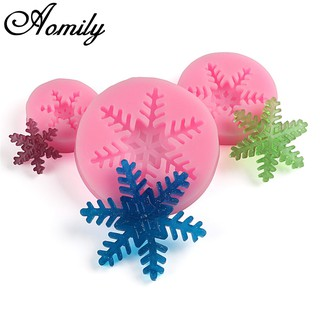 S / M / L Snowflake Cake Mold Fondant Candy Mold DIY Cookies Chocolate Mold Bak