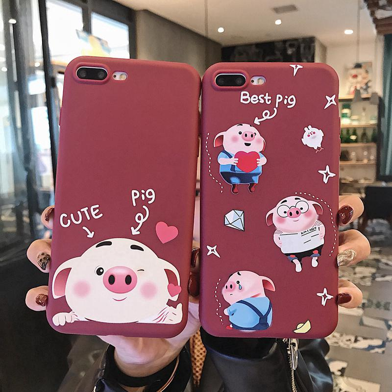 Review Cute Piggy สำหรับ iPhone XR XS Max iPhone 6 6 S 7 8 Cartoon Cute Cover