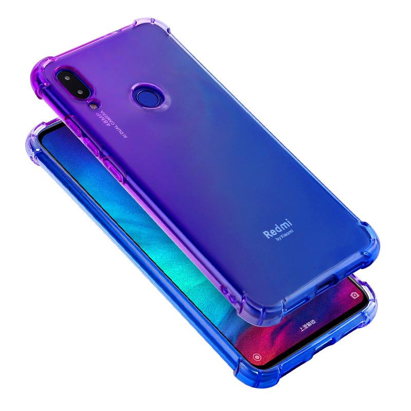 Review Xiaomi Redmi Note 7/Mi 8 Lite Case Gradient Color Shockproof Soft TPU  Phone Cover