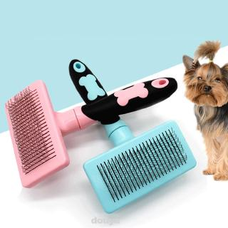 Review Dog Cat Grooming Brush Pin Teeth Hair Shedding With Handle Pet Comb