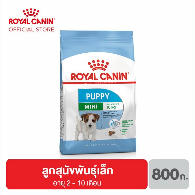 Royal Canin Mini Junior อาหารสำหรับลูกสุนัข ขนาดเล็ก อายุ 2-10 เดือน 800 กรัม