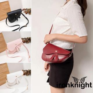 ☀Uni2019 New Womens Saddle Bag PU Style Cross Body Bag Ladies Tote Shoulder Ha