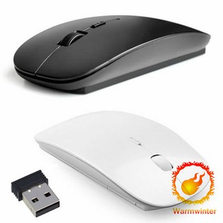 เมาส์ไร้สาย Slim 2.4 GHz Optical Wireless Mouse + Rec
