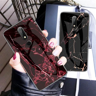 Review OPPO F11 F9 F11Pro F9Pro Realme 2Pro A5S A3S A7 OPPOF9 OPPOA7 OPPOA5S Casing Marbled Glass Back Phone Case กรณี