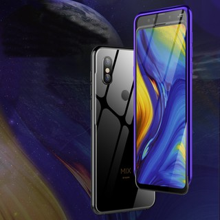 Review Xiaomi Mi Mix 3 Ultra Slim Metal Bumper Case Tempered Glass Back Cover
