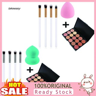 Review LYY_Dark Spots Blemish Cover Face Concealer Cream Makeup Brushes Powder Puff Set