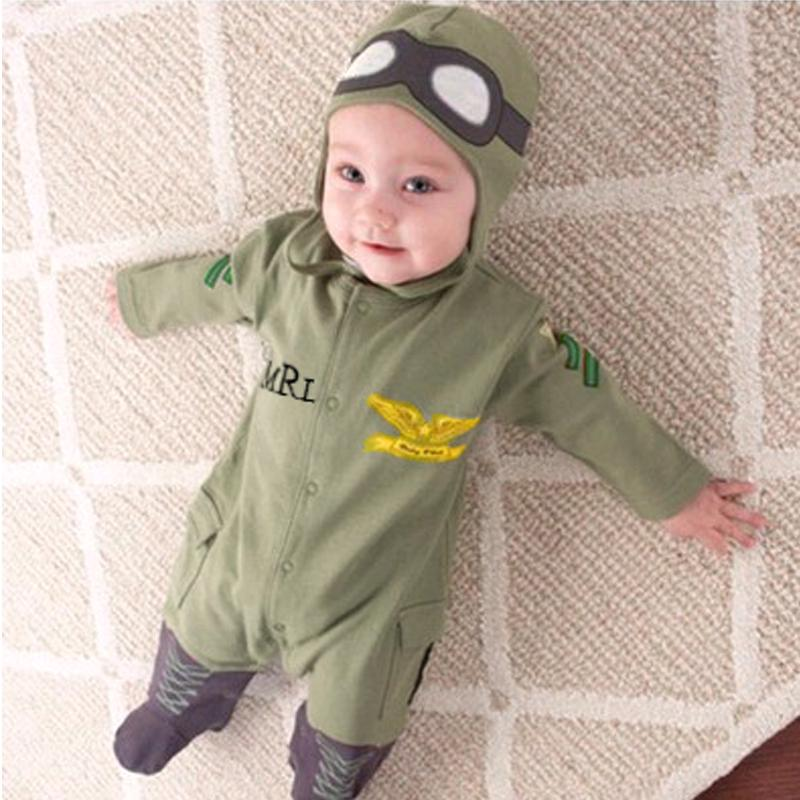 Review xzq-Newborn Baby Boys Kids Fashion Cute Fly Polit Army Green Long Sleeve Outfits clothes Set