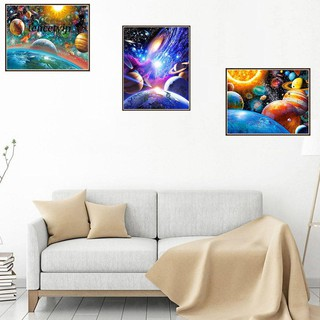 Review TCTP_Space Planet DIY 5D Full Diamond Painting Embroidery Cross Stitch Home Decor