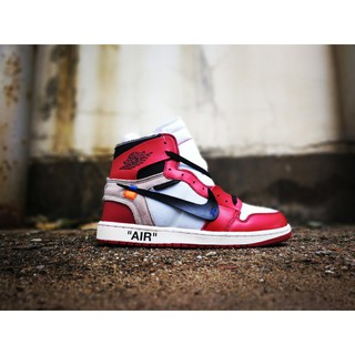 OFF-WHITE x Air Jordan 1 Retro High OG 10X White/Black-Varsity Red