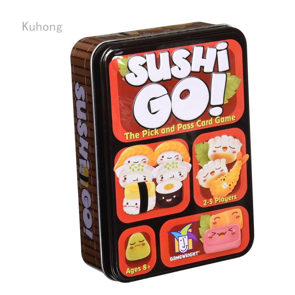 Review Sushi Go Board Pick Pass Cards Family Party Game Paper Box