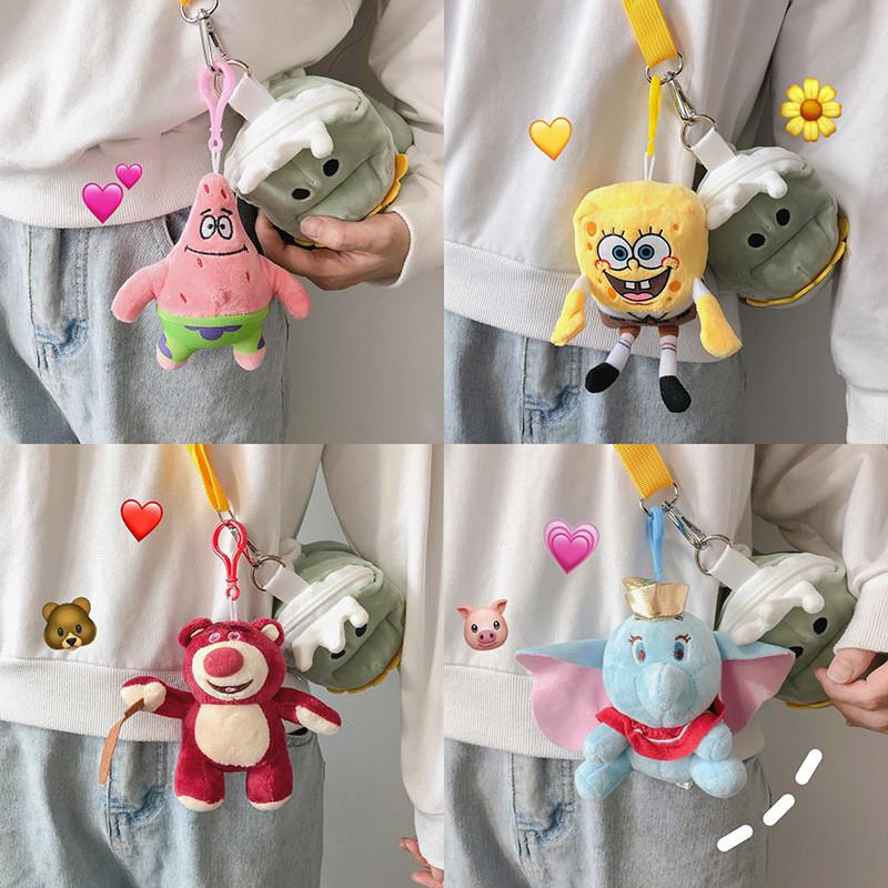 The best ตุ๊กตาการ์ตูน Dumbo Stitch SpongeBob Patrick Star Monster University