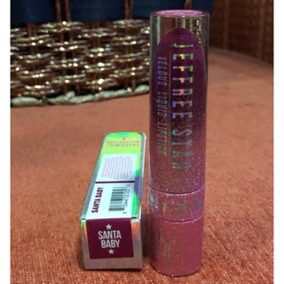 Review Jeffree Star Cosmetics Velour Liquid Lipstick   สีชมพูบานเย็น Santa Baby ขนาด 5.4ml