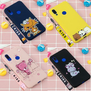 Review Xiaomi Redmi Note 7 S2 7 Note 5 4X 6A 6 Cartoon Bare Bears Patterned Soft TPU Silicon Case Cover With Hand Rope Lanyard
