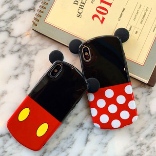 Review Cartoon Cute Disney Mickey Minnie Ear iPhone X XS XR XS MAX 6 6S 7 8 Plus Soft Silicone Cover Casing