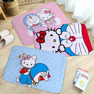 Cartoon anime Doraemon Printing Bathroom Kitchen Bathroom Anti-slip Floo