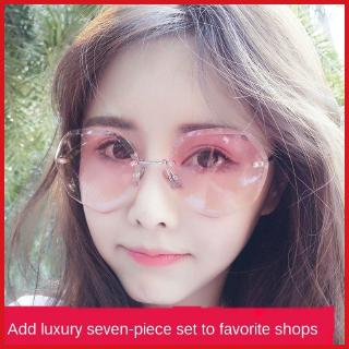Annual Fashion sun glasses women's sunglasses UV-proof round face Korean style student internet celebrity same style women's glasses