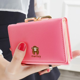 Review พร้อมส่ง◑◈The new 2019 ladies wallet brief paragraph, Japan and South Korea version of contracted mini students small