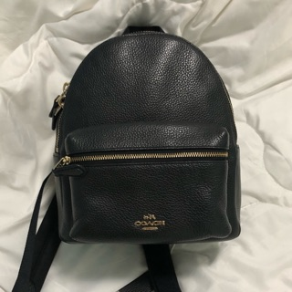 💯 Coach Pebble leather backpack 2nd ม