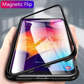 Review Magnetic Case Samsung Galaxy A70 A60 A50 A50S A30 A20 A10 A10S A20S M30S Clear Tempered Glass Hard Back Cover