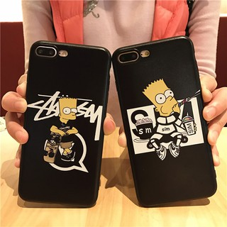 iPhone X  5 5s 6 6s 7 8 Plus Simpsonl Cartoon Soft Rubbe