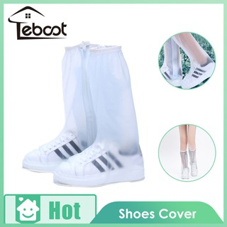 TeBoot ครอบคลุมรองเท้ากันน้ำ Shoe Covers Waterproof Shoes Covering Anti-slip Shoe Protector Waterproof Rain Boot Covers Overshoes Protect Cover Non-slip Washable Travel Rain Gear with Zipper and Buckle for Rainy Day Snow Day Outdoor Activities