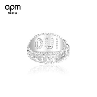 Review 【ชุดเรนโบว์】APM Monaco OUI Chain Ring Simple and delicate couple ring Per