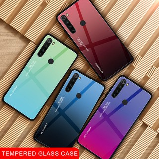 Review เคสโทรศัพท์กระจก เคสแข็ง Xiaomi Redmi Note 8 T Note8T 8T Gradient Tempered Glass Phone Case Note8 Pro Fashion Back Cover