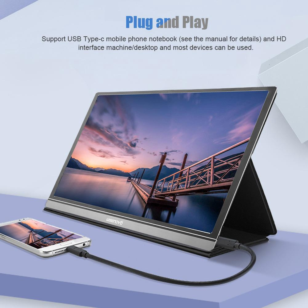 The best Wisenovo NOVO Portable 15.6 นิ้ว IPS HDR 1920 x 1080 16 : 9 Monitor Mini HDMI USB Type-C