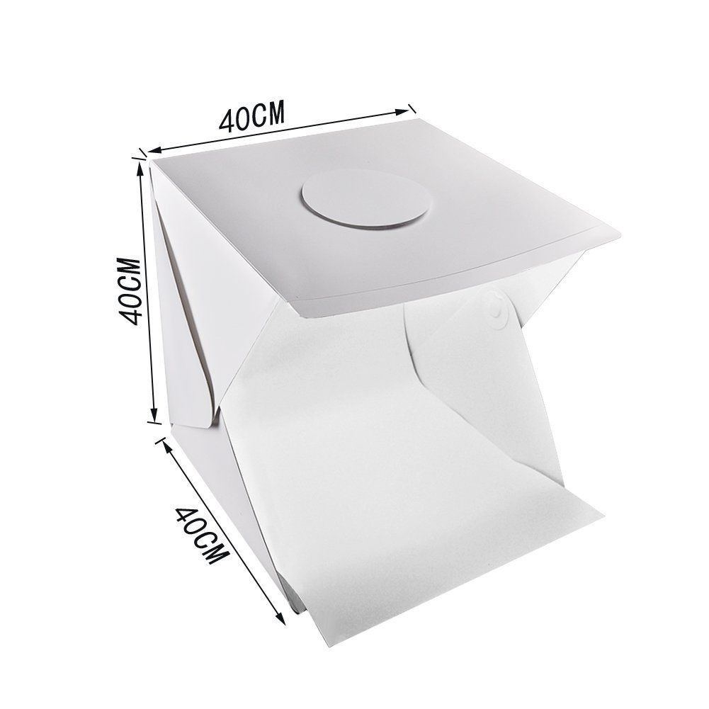 Image # 6 of Review Ifone Portable 40CM Photography Lighting Cube Tent Photo Studio Light Box 2-LED-Strips