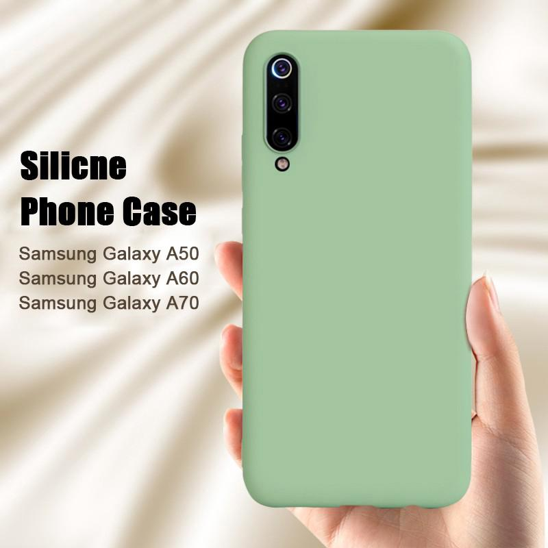 Review Samsung Galaxy A50 A60 A70 A40 A30 A20 A10 Case Liquid Silicone Soft Cover Original กรณี