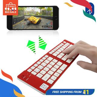 Foldable Keyboard คีย์บอร์ดพับได้ Mini Portable Bluetooth Wireless Folding Keyboard For Lapt