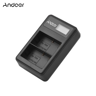 Andoer LCD2-BLF19 LCD Dual Camera Battery Charger for Panasonic Lumix GH3 GH4 GH5 DMC-GH3 DMC-GH4 DMC-GH5 C