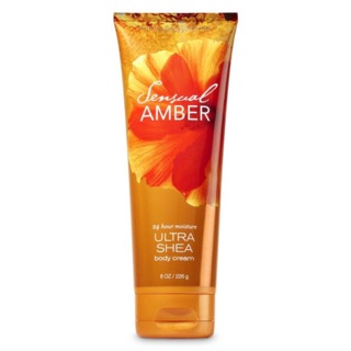 Review (แท้💯)✅ Bath & Body Works Sensual Amber Ultra Shea Body Cream 226 g