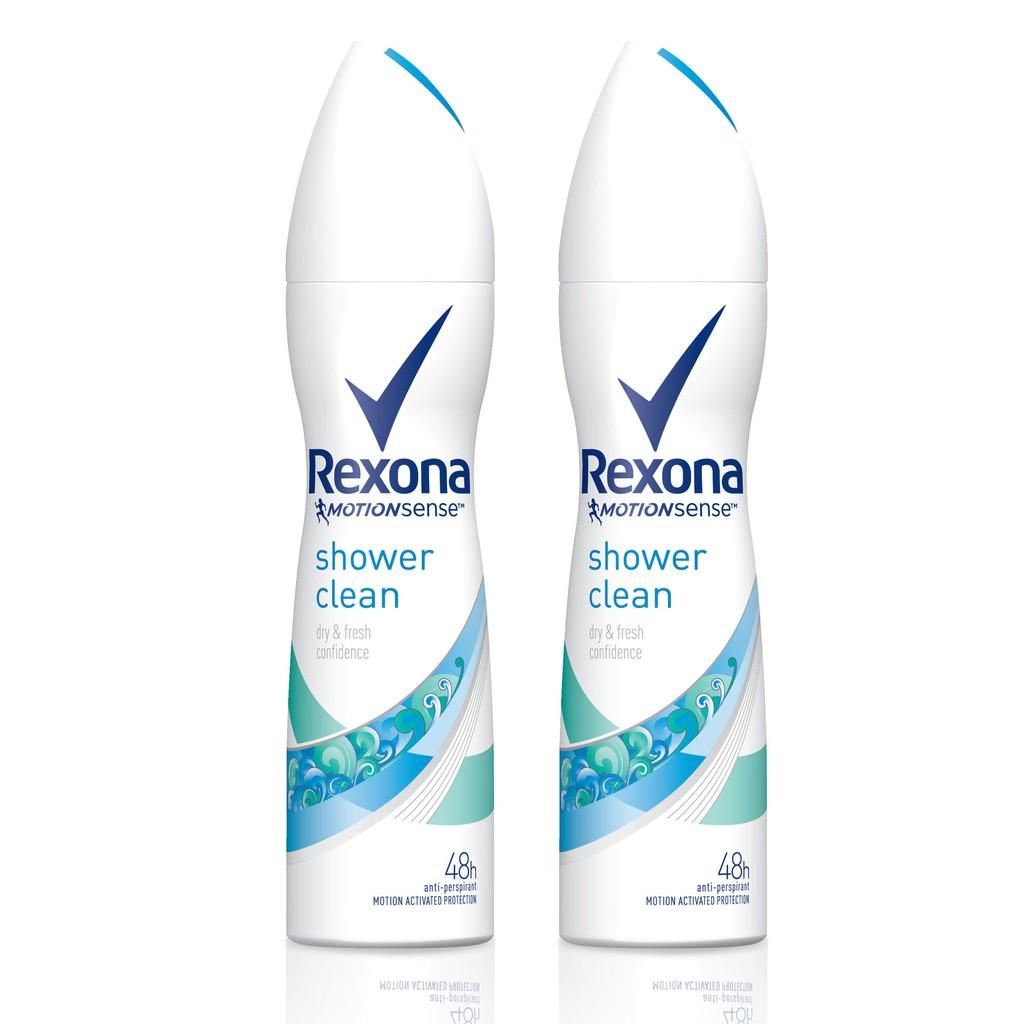Rexona Shower Clean Spray Green 150 ml (2 ขวด) UNILEVER