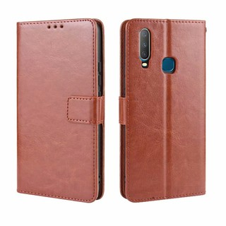 Review เคส Vivo Y11 VivoY11 Case เคสฝาพับ เคสหนัง Flip PU Leather Wallet Phone Case