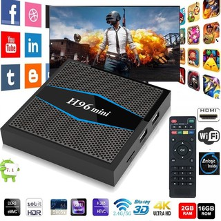 Review H96 Mini Android 7.1 Smart TV Box Amlogic S905W 2GB+16GB 4K HDMI BT Media Player
