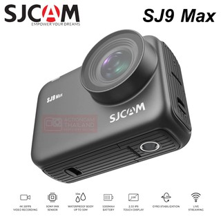 SJCAM SJ9 Max Gyro/EIS Supersmooth 4K 30FPS WiFi Remote Action Camera Ambarella Chip Wireless Charging Live Stre