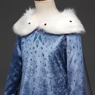 Image # 4 of Review New Snow Queen Dress Kids Cosplay Costume Princess Anna Elsa Dress for Girls Frozen Dresses