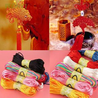 Review 2mm 20m Hot Thread Macrame Chinese Knot Braided Cords Nylon Soft Satin