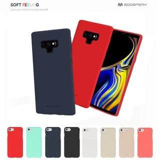 Review Samsung Note8 / Note9 - เคสยาง ซิลิโคน Soft Feeling Case Mercury (Goospery) แท้