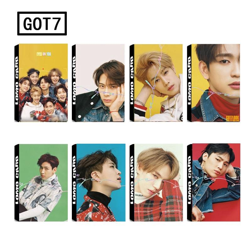 Review EYES ON YOU 30 Pcs/set KPOP GOT7 Poster Photo Card Lomo Card