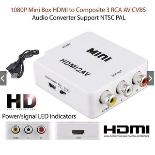 Portable Composite HDMI To RCA Audio Video AV CVBS Adapter Support HD Conv