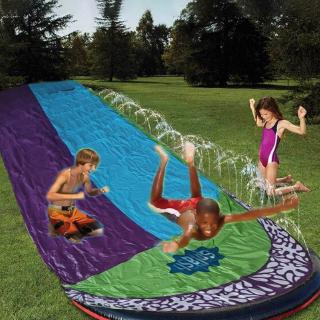 Grass Sprinkler Pad Children's Slide Summer for Pool Garden Waterslide Outdoor Games PVC Water Spray Tool Double Surfer 1Pcs