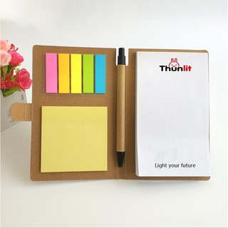 Kraft Paper Cover Note Book Combination Sticky Note Creative Note N Times Paste Plu