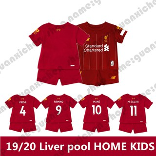 19-20 Liverpool Home ฟุตบอล Soccer เสื้อ footbal For Kids Children Boys And