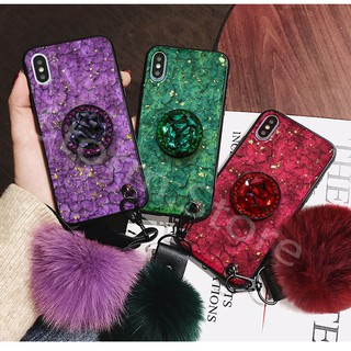 Review XiaoMi RedMinote5Pro RedMinote6 RedMiS2/Y2 Rhinestone bracket anti-drop mobile phone case