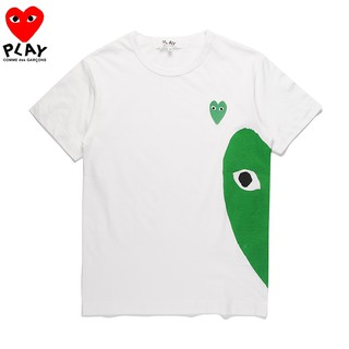 Review COMME des Garcons CDG Play Pure Cotton Short-sleeved Heart T-Shirt Simple Trend New Style เสื้อยืดลาย