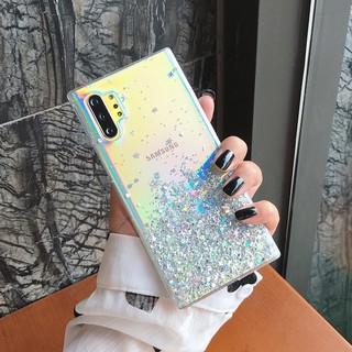 Review Samsung Note 10+ S10plus S10 S9plus S9 S8plus S8 Note9 Note8 Bling Glitter Star Transparent Soft Phone Case