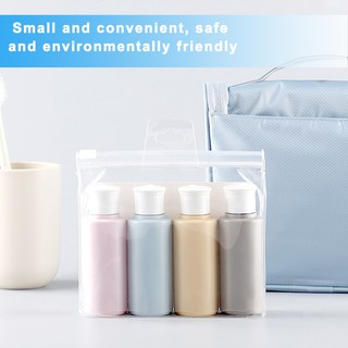 Review 4 Bottles Portable Travel Bottles Set, Leak Proof Squeezable Silicon Tubes Toiletries Container